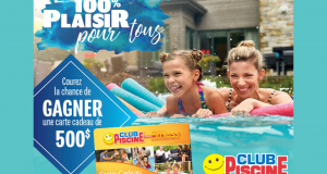 Carte-cadeau Club Piscine de 500 $