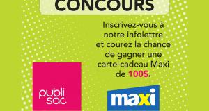 Carte-cadeau Maxi de 100 $