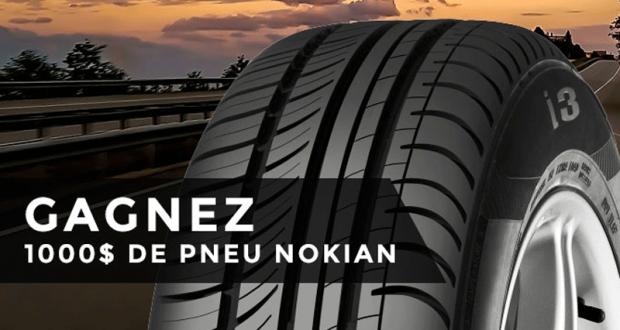 Chèque-cadeau Nokian Tyres de 1000 $