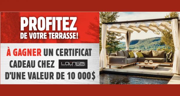 Certificat cadeau Lounge Factory de 10 000$