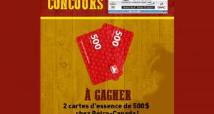 2 cartes d'essence de 500 $ chez Pétro-Canada
