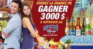 3000$ en carte-cadeau à dépenser au Marché du Village