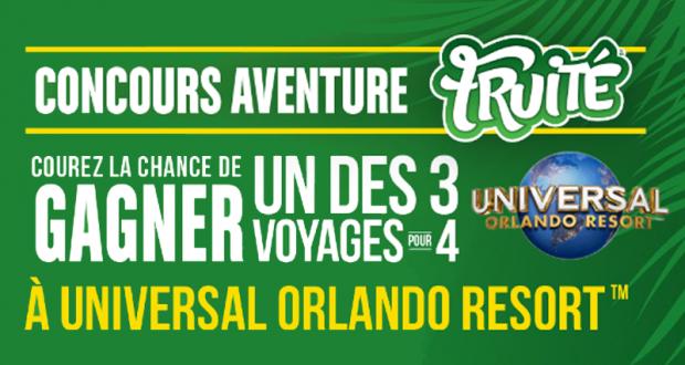 Gagnez 3 Voyages pour 4 à Universal Orlando (6383$ chacun)