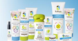 Un ensemble cadeau de produits Kalaya Naturals