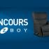 Un fauteuil Lazboy inclinable et berçant en cuir