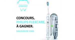 Une brosse à dent électrique Philips Flexcare