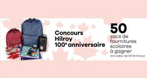 50 sacs de fournitures scolaires Hilroy