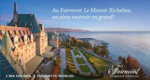 Forfaits cadeaux offerts par le Fairmont Le Manoir Richelieu