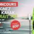 Kayak Strait 140 et une pagaie Exocet
