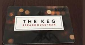 Carte-cadeau The Keg de 200$