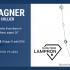 Collier argent 36 » perles d'eau douce et topazes bleues