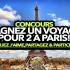 Gagnez un voyage pour deux personnes à Paris (8 318 $)