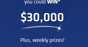 Grand prix 30'000 $. 34 cartes-cadeaux d'épicerie de 250 $