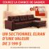 Un sectionnel de marque Elran de 3 199,99$