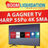 Une TV SHARP 55 PO SMART 4K