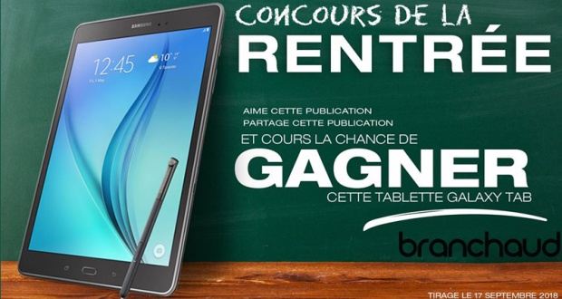 Une tablette Galaxy Tab