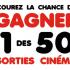 50 Certificats cadeaux Cineplex de 60$ chacun