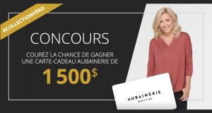 Carte-cadeau de 1500$ magasins Aubainerie