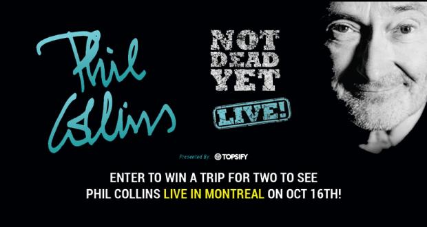 Gagnez Un voyage pour 2 pour voir Phil Collins à Montréal