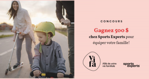 Une carte-cadeau de 500 $ chez Sports Experts