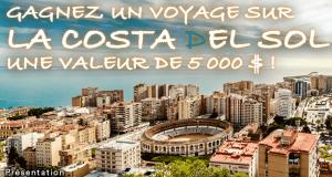 Voyage d'une semaine sur la Costa Del Sol en Espagne