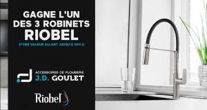 3 robinets de marque Riobel de 500 $ chacun