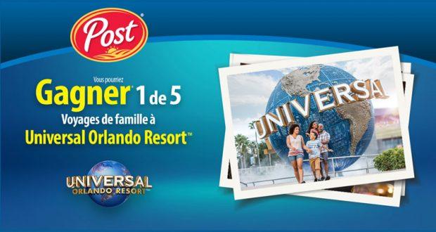 5 voyages pour 4 personnes aux parcs Universal Orlando Resort