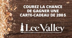Carte-cadeau Lee Valley de 200 $