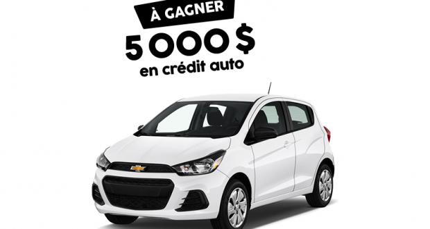 Crédit auto de 5000 $