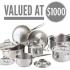 Ensemble de casseroles Paderno (Valeur de 1000$)