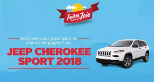 Gagnez un Jeep Cherokee Sport 2018