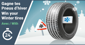 Gagnez un ensemble de pneus d'hiver nokian neuf