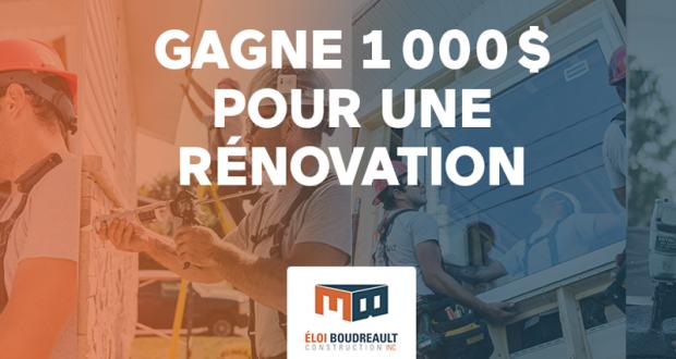 1 000 $ pour ton projet de rénovation