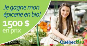 1 500$ d'épicerie en bio