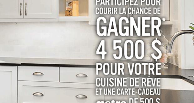 Gagnez 4500 Pour Votre Cuisine De Reve Quebec Concours Gratuits