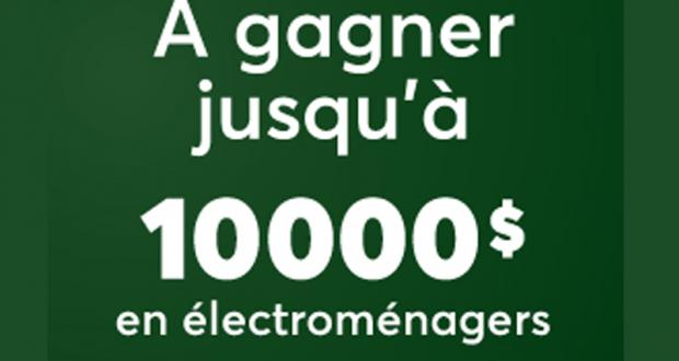 Gagnez 5000 $ pour l'achat d'électroménagers