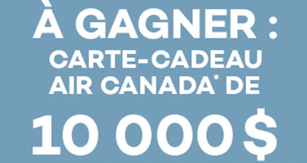 Gagnez Une Carte-cadeau Air Canada de 10 000$