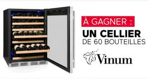 Gagnez un luxueux cellier Vinum 60 bouteilles