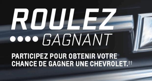 Gagnez une Voiture Chevrolet de votre choix (47 300 $)