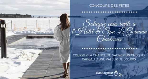 Chèque-cadeau de 500 $ à l'Hôtel & Spa Le Germain Charlevoix
