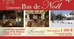 Gagnez 2 forfaits de rêve au Château Montebello