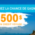 Gagnez Un crédit voyage d'une valeur de 2 500 $