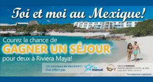Gagnez un voyage tout inclus pour 2 à Riviera Maya