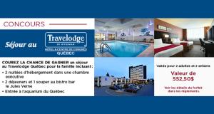 Séjour pour 4 personnes au Travelodge Québec