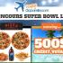 500$ en crédit voyage Sunwing et Repas Super Bowl