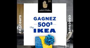 Gagnez Une carte cadeau de 500$ chez IKEA