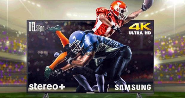 Un téléviseur intelligent 58 pouces DEL 4K de Samsung