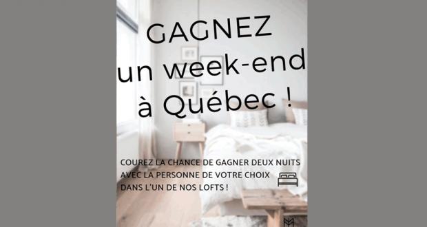 Un week end de 2 nuits dans un superbe Loft à Québec