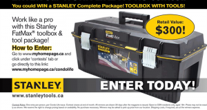 Gagnez 300 $ d'outils Stanley
