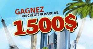 Crédit-voyage de 1 500 $